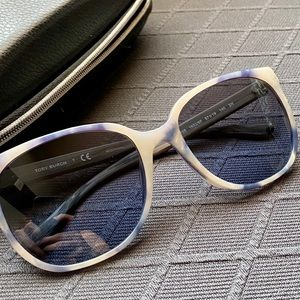 Tory Burch Blue Marbled Sunglasses